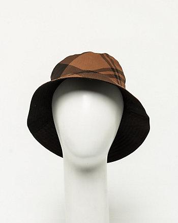 Plaid Cotton Bucket Hat