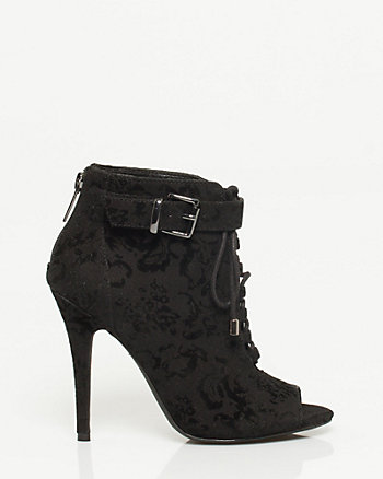 Brocade Lace-up Shootie