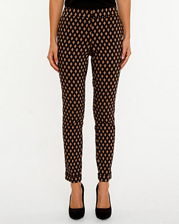 Jacquard Print Skinny Pant