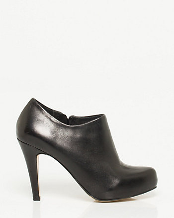 Italian Made Leather Platform Shootie