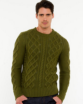 Cable Knit Slim Fit Sweater