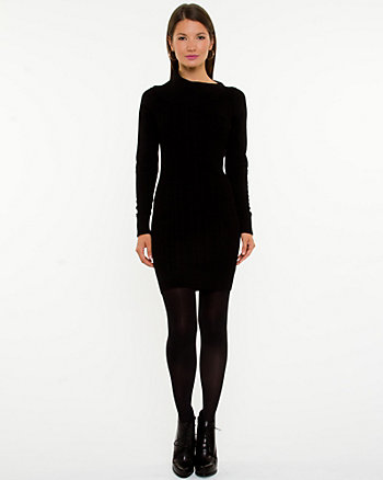 Split Collar Knit Dress