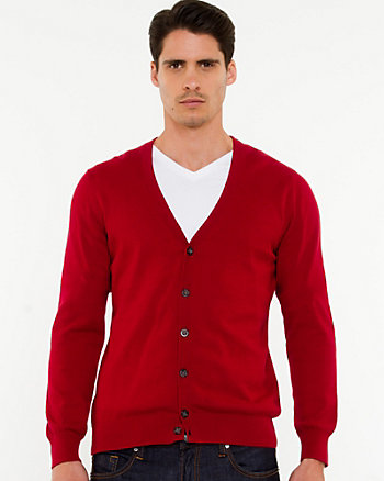 Cotton V-Neck Slim Fit Cardigan