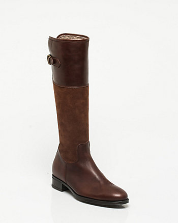 Suede & Leather Riding Boot