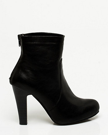 Leather-Like Ankle Boot