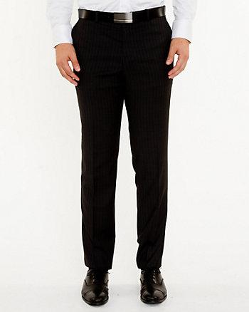 Pantalon à jambe étroite en laine