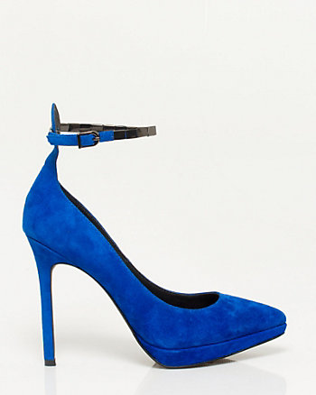 Leather Ankle Strap Pump