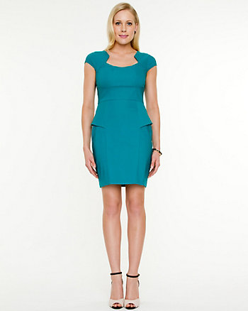 Tech Stretch Peplum Dress