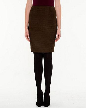 Birdseye Pencil Skirt