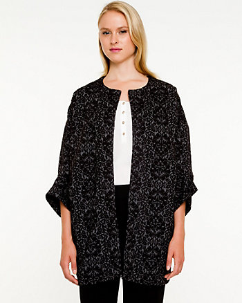 Double Knit Open-front Overpiece