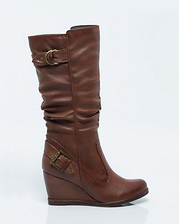 Leather-Like Knee-High Boot