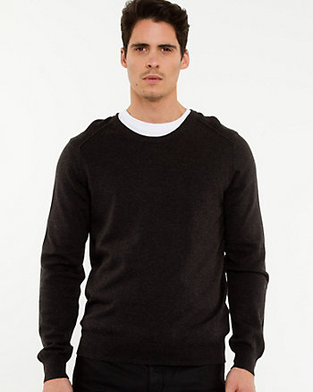 Rib Knit Crew Neck Sweater