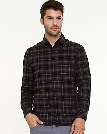 Flannel Check Print Shirt