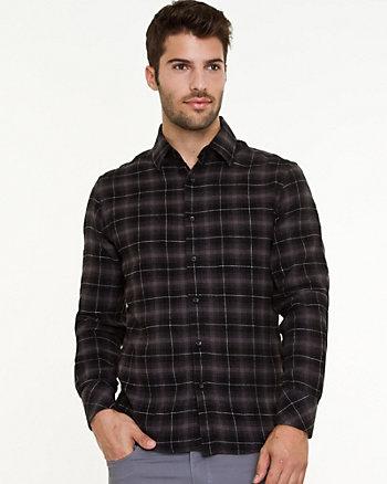 Flannel Check Print Shirt