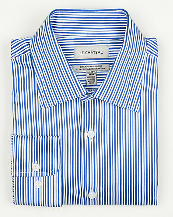 Stripe Sateen  Euro Fit Shirt