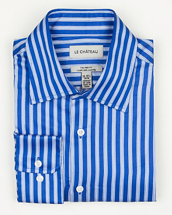 Stripe Sateen Tailored Fit Shirt