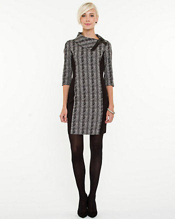 Jacquard Fitted Dress