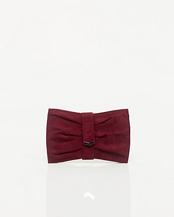Microfibre Oversized Bow Clutch