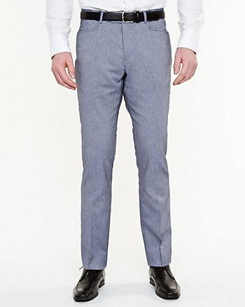 Pantalon à jambe étroite en sergé