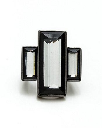 Art-Deco Square Gem Ring