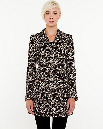 Leopard Print Reefer Coat