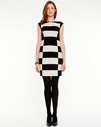 Stripe Boat Neck Dress