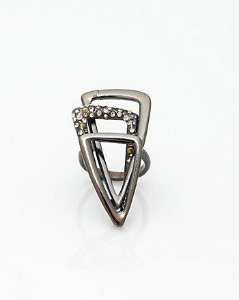 Gem Encrusted Metal Ring