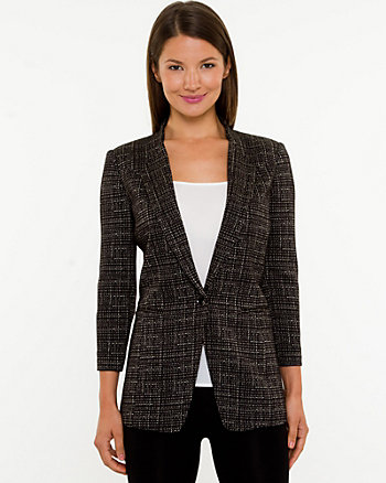 Ponte Collarless Blazer