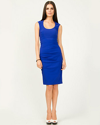 Ruched Bengaline Dress
