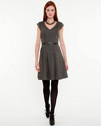 Tweed Fit & Flare Dress