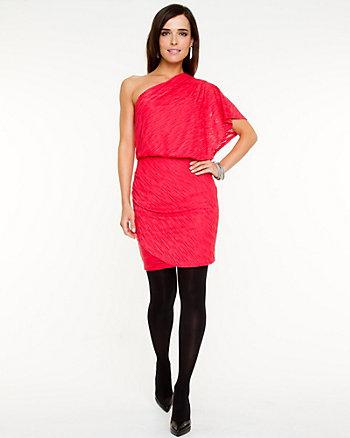 Burnout Mesh One Shoulder Dress