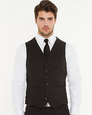 Tonal Jacquard City Fit Vest