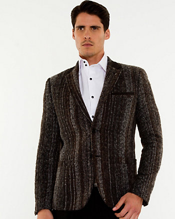 Veston de coupe contemporaine en tweed