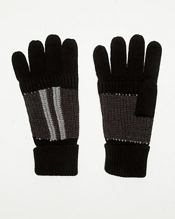 Stripe Knit Glove