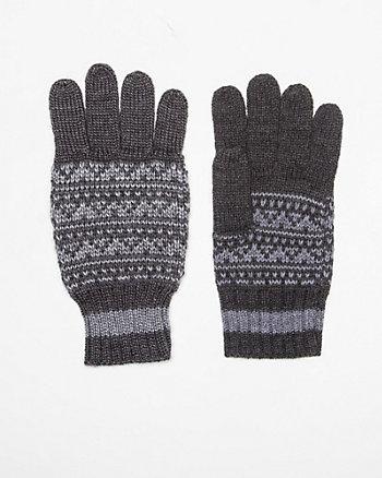 Wool Blend Fair Isle Glove