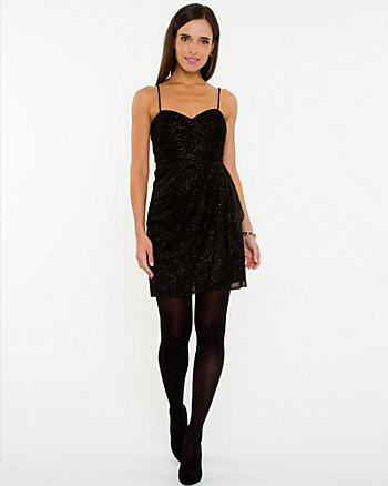 Sparkle Mesh Sweetheart Dress