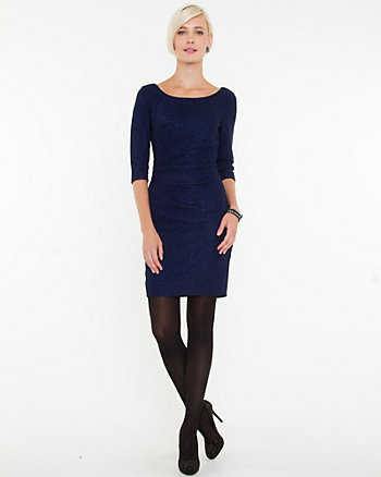 Sparkle Knit 3/4 Sleeve Dress