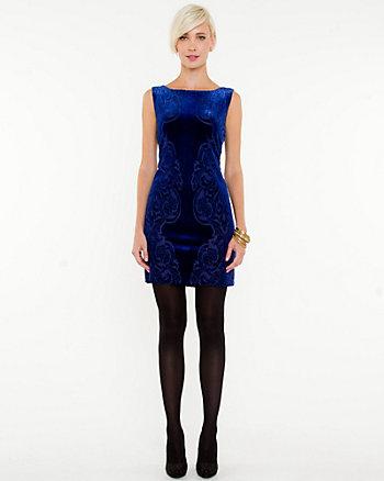 Burnout Print Sleeveless Dress