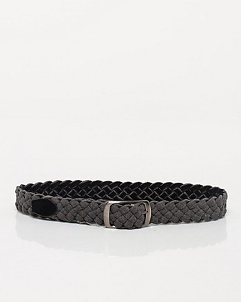 Cotton & Suede Reversible Belt