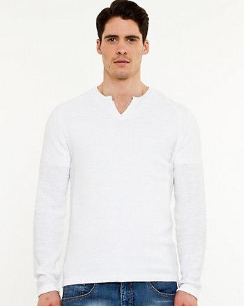 Chandail en tricot côtelé
