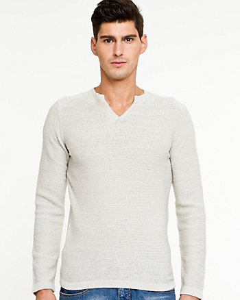 Rib Knit Slim Fit Sweater