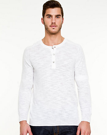 Slub Knit Pull-on Henley