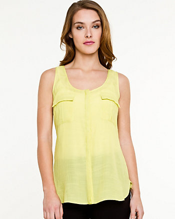 Ghost Gauze Sleeveless blouse