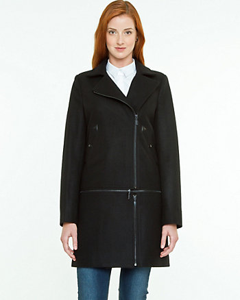 Melton Asymmetrical Coat