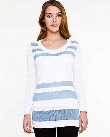 Stripe Scoop Neck Sweater