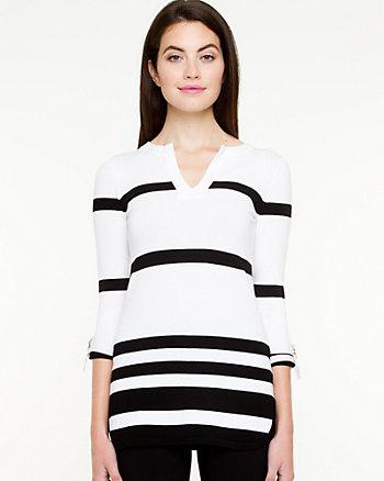 Stripe V-Neck Sweater