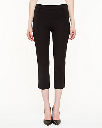 Gabardine Slim Leg Crop Pant