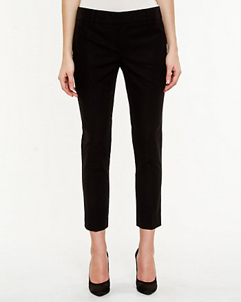 Double Weave Slim Leg Crop Pant