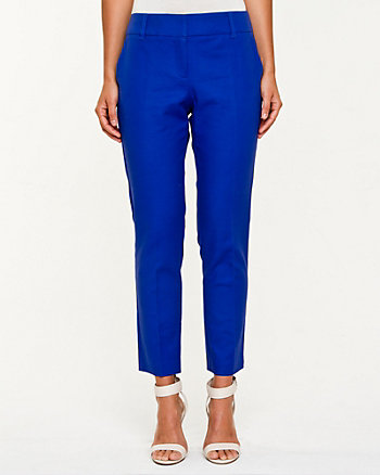 Double Weave Slim Leg Crop Pant