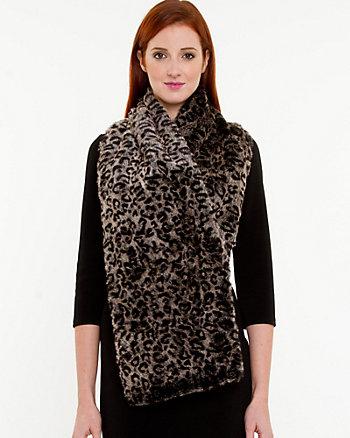 Leopard Faux Fur Wrap Scarf